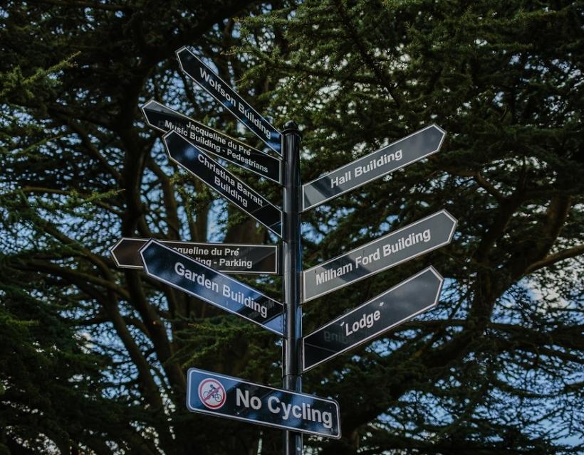 Signposts at St Hilda's College