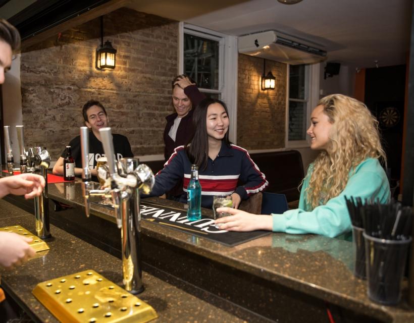 JCR bar, St Hilda's College, University of Oxford