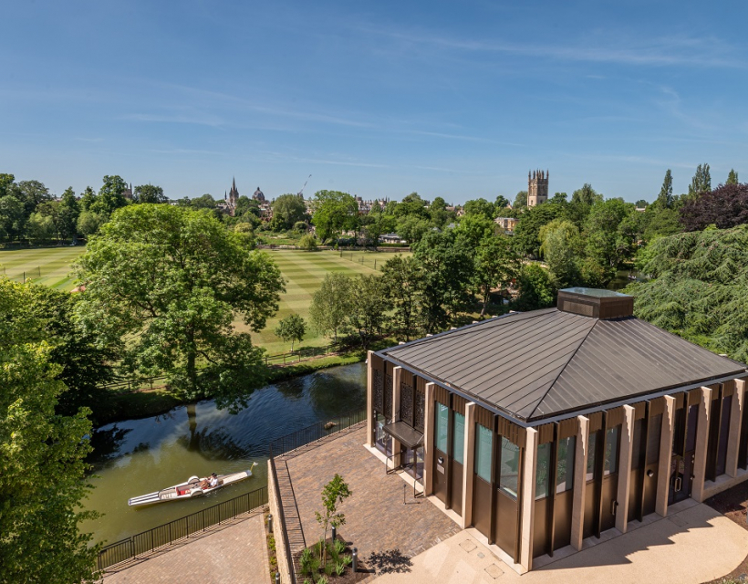 Riverside Pavilion from Anniversary Building roof garden