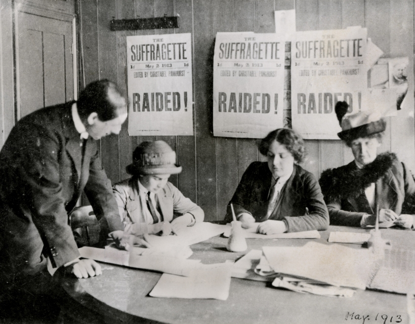 A Women's Social & Political Union (WSPU) office, 1913.