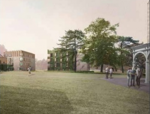 Artist's impression of phase 2 student accommodation building