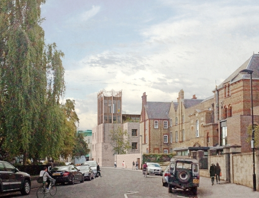 St Hilda's College Entrance Tower seen from Cowley Place