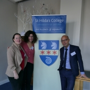 Cécile Dudouyt, Giovanna Di Martino and Tristan Alonge, organisers of the 'Translating Greek Tragedy in Sixteenth Century Europe' Conference
