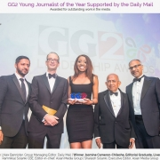 Jasmine Cameron-Chileshe wins the GG2 Young Journalist of the Year Award