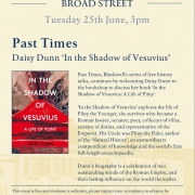 In the Shadow of Vesuvius: A Life of Pliny' by Daisy Dunn publishes in paperback