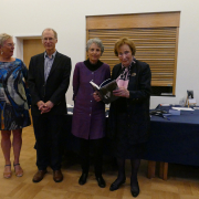 Margaret Bullard and guests at the launch of 'Endangered Species: Diplomacy from the Passenger Seat'