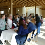 Book signing at St Hilda's Writers' Day, Oxford Literary Festival