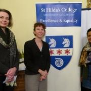 Professor Petra Schleiter, Anneliese Dodds MP, and Shasta Kaul (2015, PPE)
