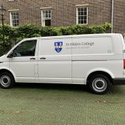 St Hilda's College electric van