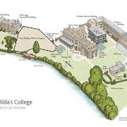 St Hilda's College site map