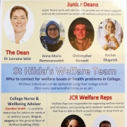 St Hilda's Welfare Team: Who to contact for welfare issues or health problems in College