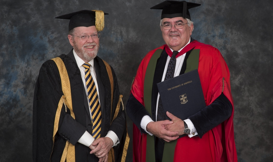 Professor Sir Gordon Duff receives his Honorary Degree from the University of Sheffield
