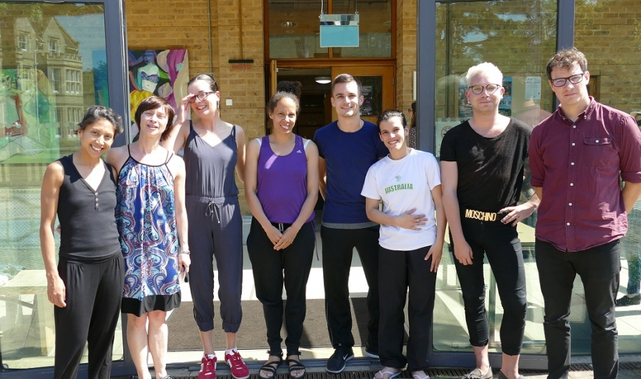Anna (third left) with dancers, choreographers, and fellow composers