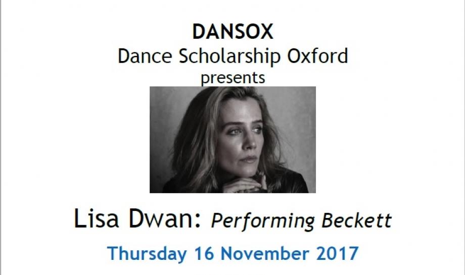 DANSOX presents Lisa Dwan: Performing Beckett