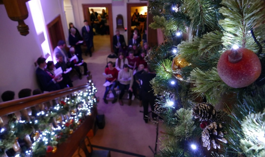 Carols on the Stairs at St Hilda's College