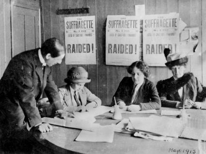 A Women's Social & Political Union (WSPU) office, 1913