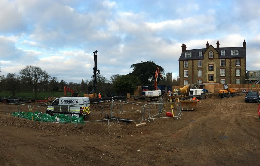 St Hilda's College building site