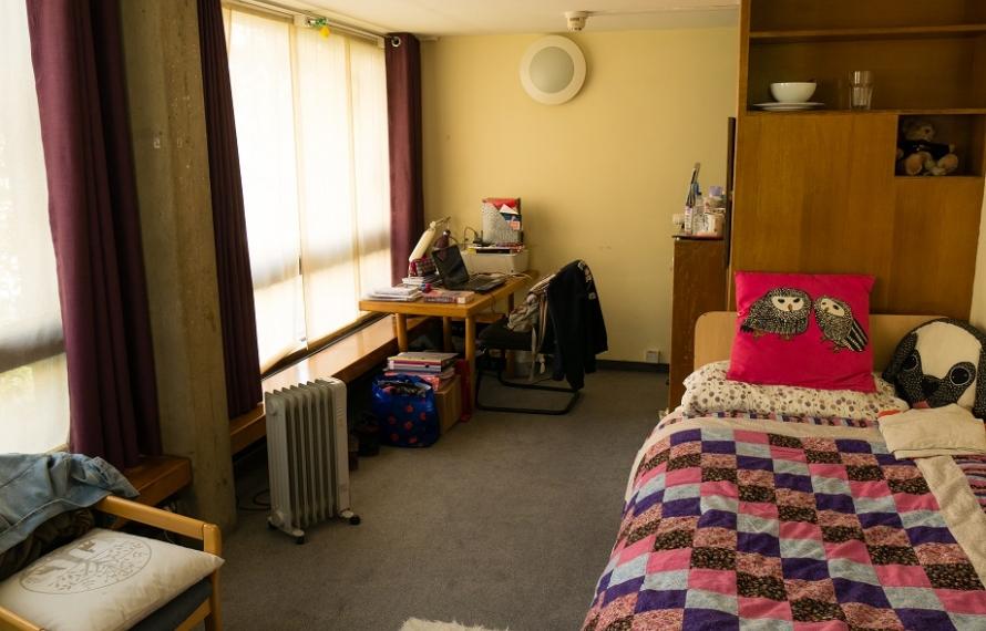 Student room in Garden Building
