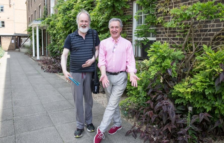 Sir Richard Alston and Alastair Macaulay at DANSOX's Inaugural Summer School, July 2019