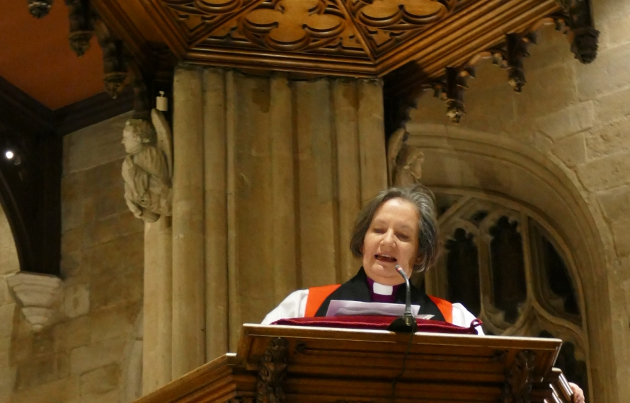 The Rt Revd Vivienne Faull, Bishop of Bristol, gives the Address at St Hilda's College's Founder's Day Service