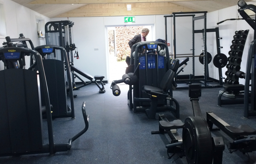 Equipment arrives at the Stone Family Gym