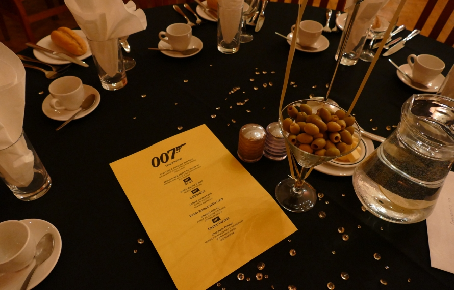 James Bond-themed party night in St Hilda's College Dining Hall
