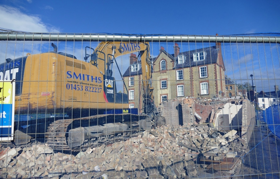 Demolition of the old MCR and Porters' Lodge
