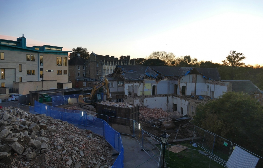 Demolition of Milham Ford continues at St Hilda's College.