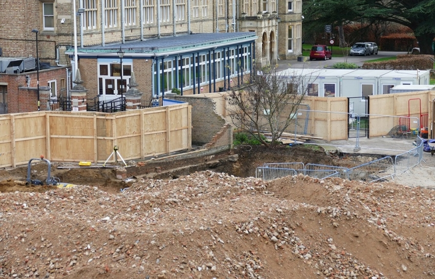 Archaeological excavation of St Hilda's College site.