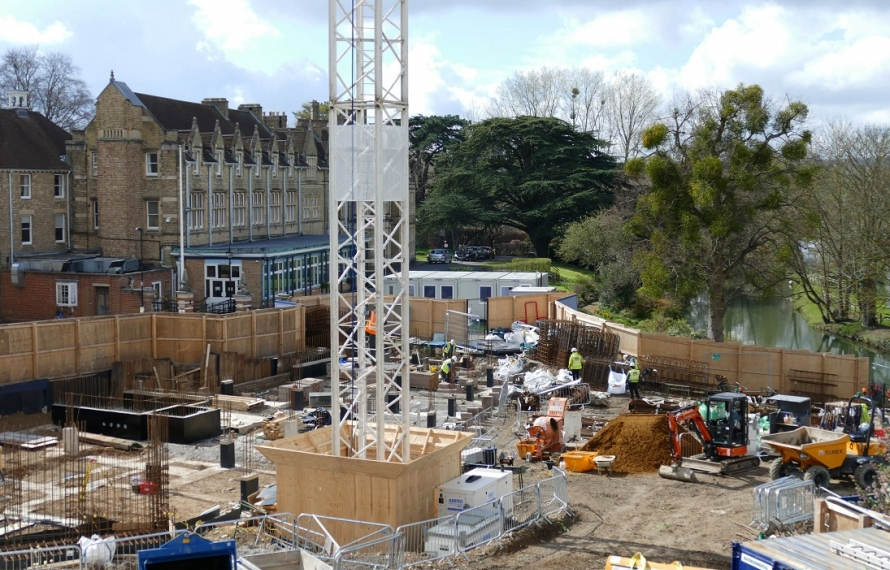 We are transformng our site at St Hilda's College. Following demolition of Milham Ford and the old Porters' Lodge, foundations for the new buildings are being laid in March and April 2019.