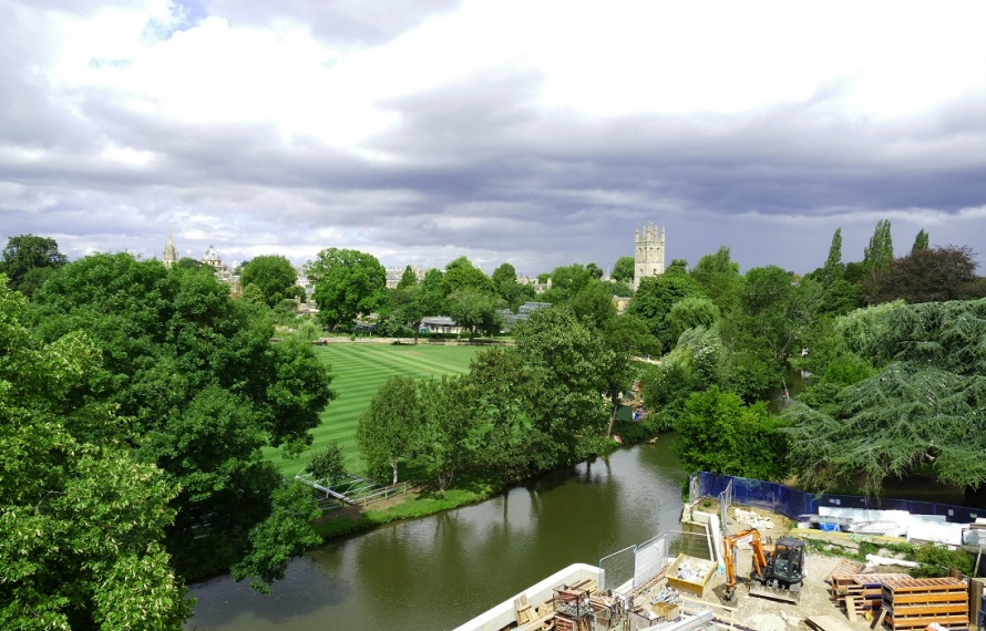 View of Oxford's skyline from the Boundary Building at St Hilda's College, University of Oxford