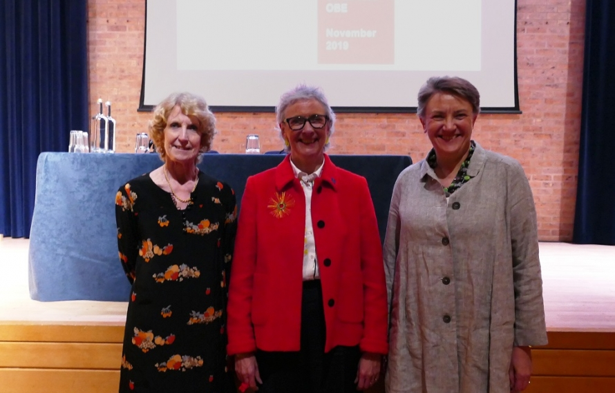 Lady English, Sarah Weir OBE, and Dr Georgina Paul at the Lady English Lecture 2019