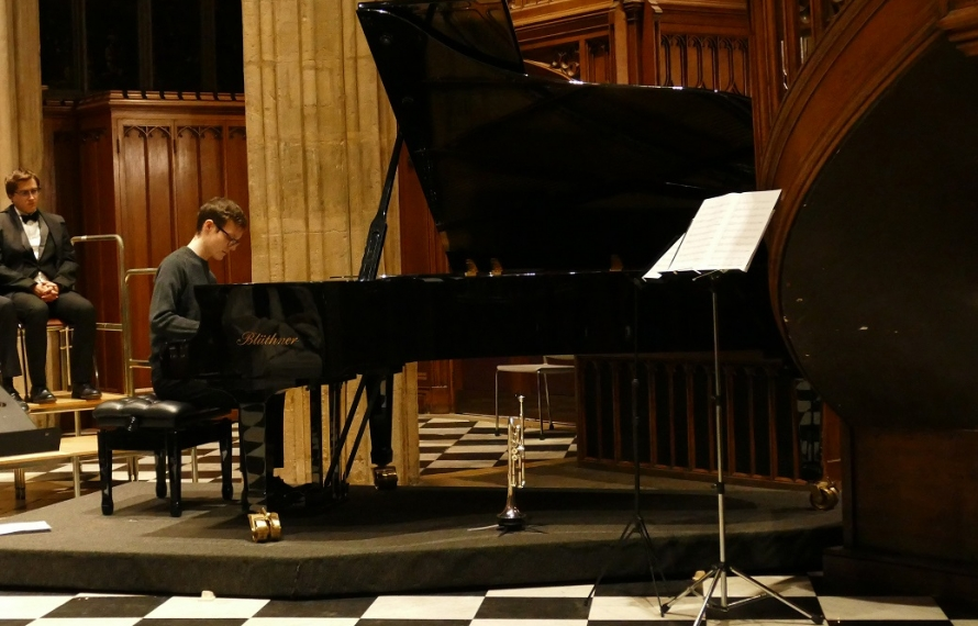A musical interlude from Simon Walton, Music Scholar 2019-20, at St Hilda's College's Founder's Day Service