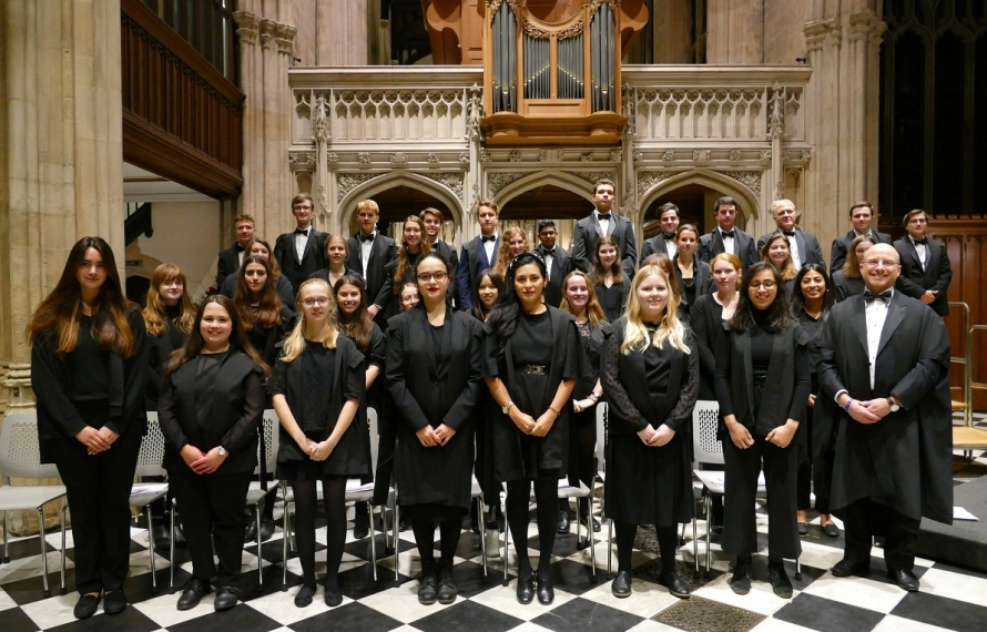 St Hilda's choir at our Founder's Day celebrations in the University Church on 13 November 2019