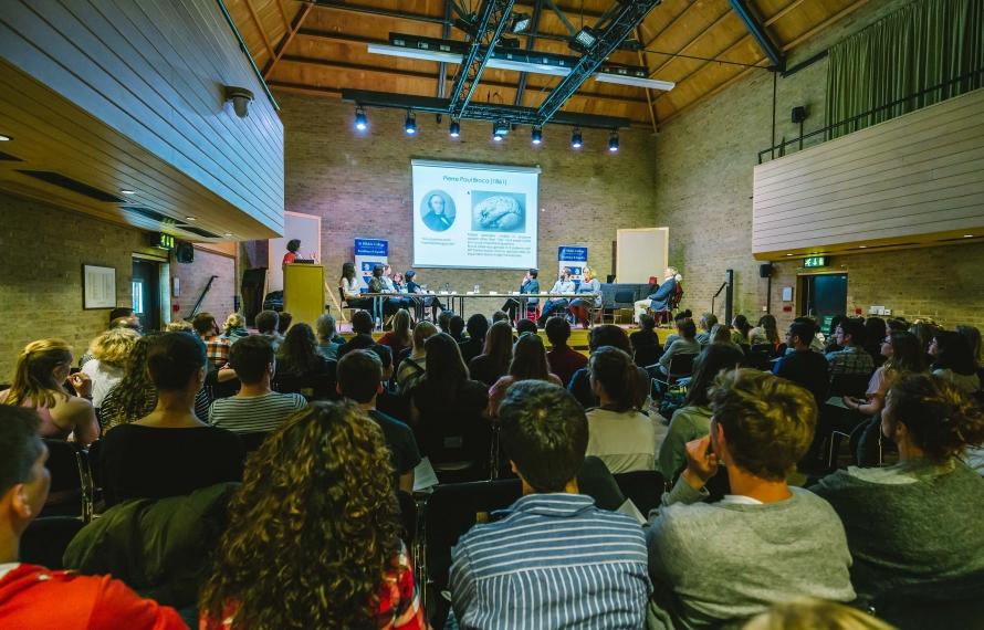 A conference in the Jacqueline du Pré Building, St Hilda's College