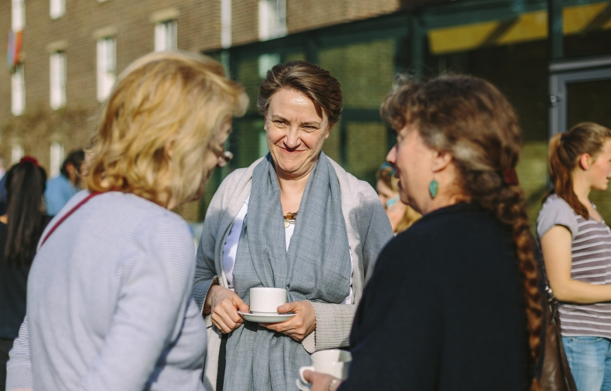 Break-time discussions at 'Bilinguilism and the Brain'