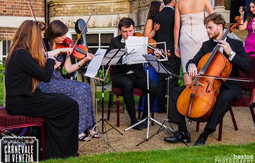 String Quartet in Hall Garden, St Hilda's College