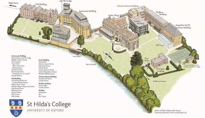 St Hilda's College Interactive Map
