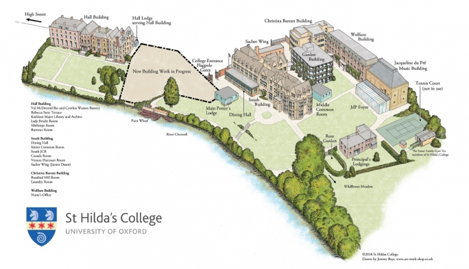 Explore St Hilda's College with our site map