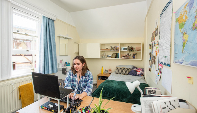 First-year student room in South Building