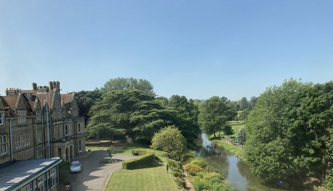 View from student bedroom in the Boundary Building